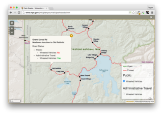 Real Time Map Data in the National Park Service
